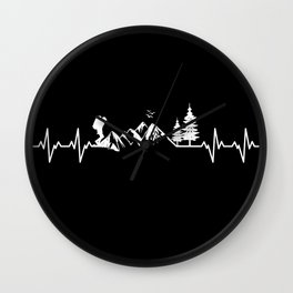 My Heart Beats For Nature Wall Clock