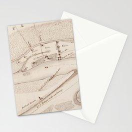 Vintage Map of St Augustine FL (1819) Stationery Cards