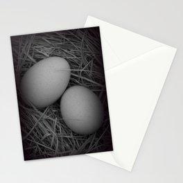 B&W Eggs Stationery Cards