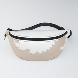 Beige and White Fractal Fanny Pack