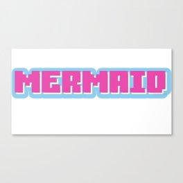 Mermaid logo Canvas Print