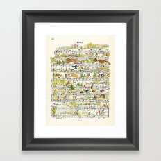 onnotes-fuga Framed Art Print