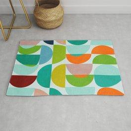 shapes abstract III Rug