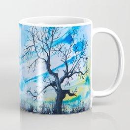 Birds above the hill Coffee Mug