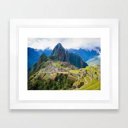 Breathtaking Machu Picchu Framed Art Print