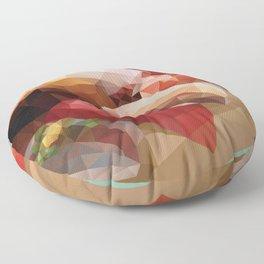 Nigiri Sushi Platter Polygon Art Floor Pillow
