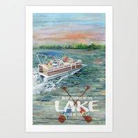 What happens at the LAKE Art Print