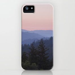 Sunset in the Santa Cruz Mountains iPhone Case