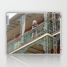 New Orleans Lady Mannequin on a Balcony Laptop & iPad Skin