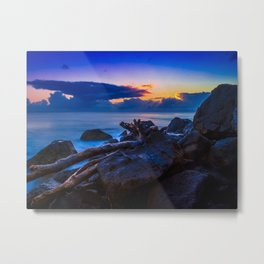 Rainbow Bay Metal Print