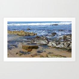 DANA POINT ROCKS ON THE BEACH Art Print