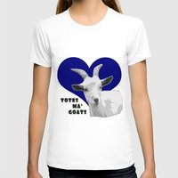 totes T-shirts featuring Totes Ma Goats - Blue by BACK to THE ROOTS