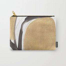 Gold and Black Abstract Carry-All Pouch