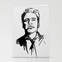 robert downey jr Stationery Cards featuring Robert Downey Jr by charlotvanh