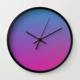 RETRO BLAST - Minimal Plain Soft Mood Color Blend Prints Wall Clock