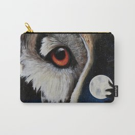 Eagle Owl - The Watcher - by LiliFlore Carry-All Pouch