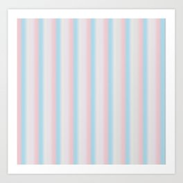 Candy stripe Art Print