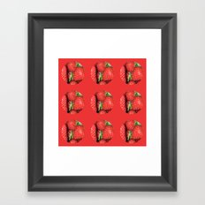 Strawberry Berries Framed Art Print