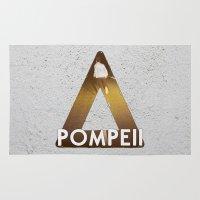 bastille Area & Throw Rugs featuring Bastille #1 Pompeii by Thafrayer