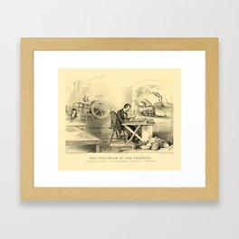 The Progress of the Century (Currier & Ives) Framed Art Print