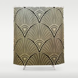 Golden Art Deco pattern Shower Curtain