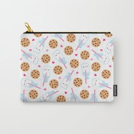 Happy Milk and Cookies Pattern Carry-All Pouch