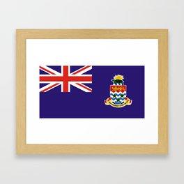 Cayman Islands flag Framed Art Print