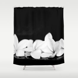 Singapore White Plumeria Flowers the Fragrance of Hawaii Shower Curtain