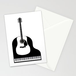 Piano and Guitar Stationery Cards