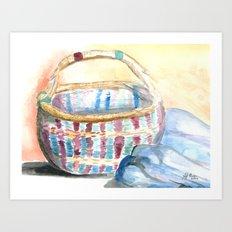 Color-Weaved Basket Art Print