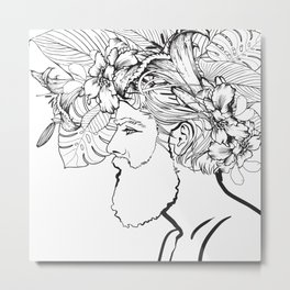I Lilly Like His Beard Metal Print