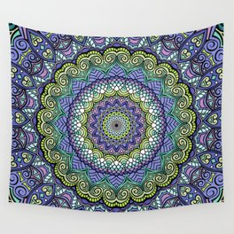 Purple n' Green Machine - Mandala Art Wall Tapestry