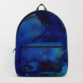 NEW Alcohol Ink Deep Blue Trip I Backpack