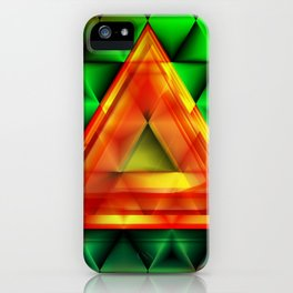 Ruby triangle iPhone Case