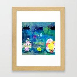 Flowers Jars Framed Art Print