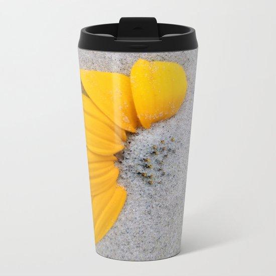 Sunflower in the Sand Metal Travel Mug