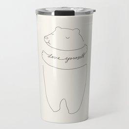 Love Yourself Bear Travel Mug