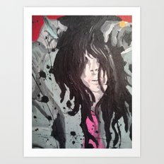 Dripping Black Art Print