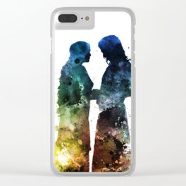 Watercolor Couple Clear iPhone Case