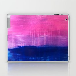 Bisexual Flag: abstract acrylic piece in pink, purple, and blue #pridemonth Laptop & iPad Skin