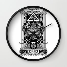 Abyss Cancer Obscurity Wall Clock