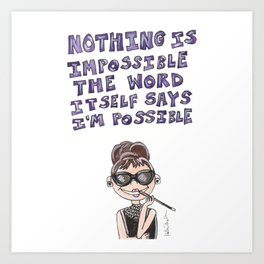 Little Audrey Quote Art Print