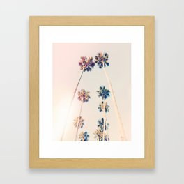 Vintage Pastel Palm trees Framed Art Print