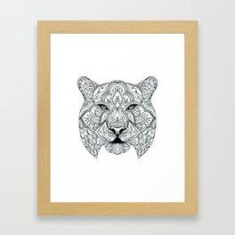 Big Cat Portrait Framed Art Print