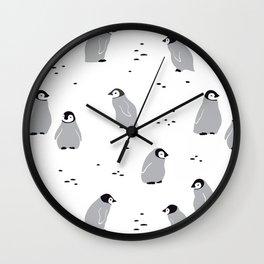 Baby Emperor Penguins Wall Clock