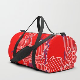 graffiti drawing and painting abstract in red and blue Duffle Bag