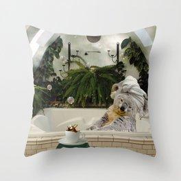 Self-Care Koala Bath Reading Books With Coffee Throw Pillow