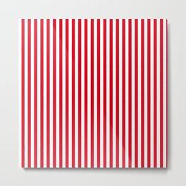 Kirsch-Kokosnuss-Eiscreme   Red-White Striped Metal Print