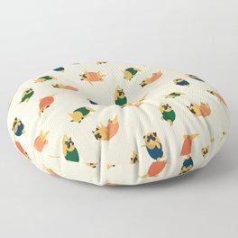 Pugs Swimmer Floor Pillow