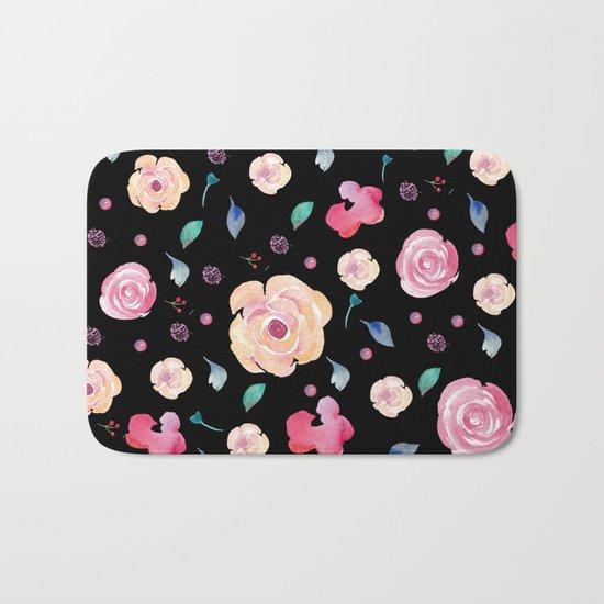 Springtime florals II Bath Mat